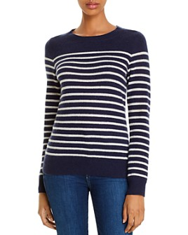 C by Bloomingdale's - Cashmere Striped Sweater - 100% Exclusive