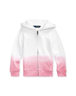 Ralph Lauren - Girls' Dip-Dyed French Terry Hoodie - Little Kid