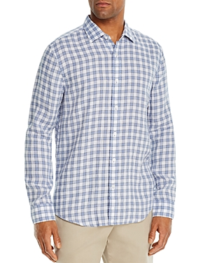 The Men's Store at Bloomingdale's Linen Check Classic Fit Shirt - 100% Exclusive