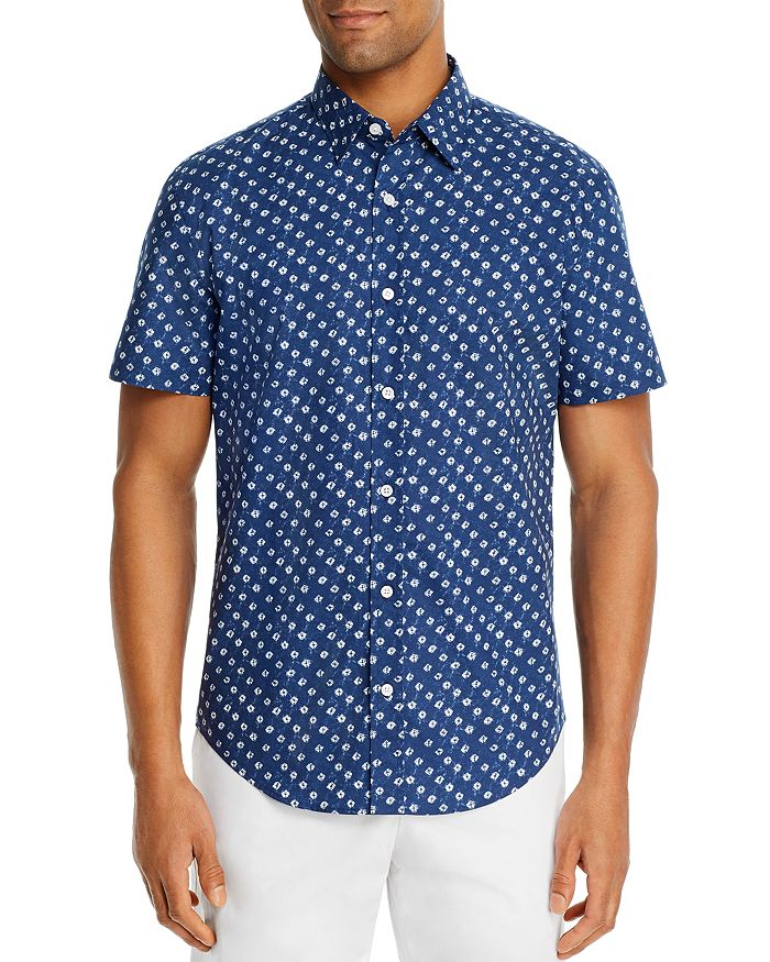 The Men's Store at Bloomingdale's - Cotton Abstract-Print Classic Fit Shirt - 100% Exclusive