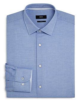 BOSS - Jesse Dotted Slim-Fit Dress Shirt