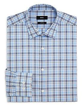 BOSS - Plaid Regular-Fit Dress Shirt