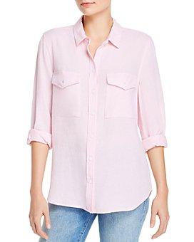BeachLunchLounge - Kallie Button-Front Shirt