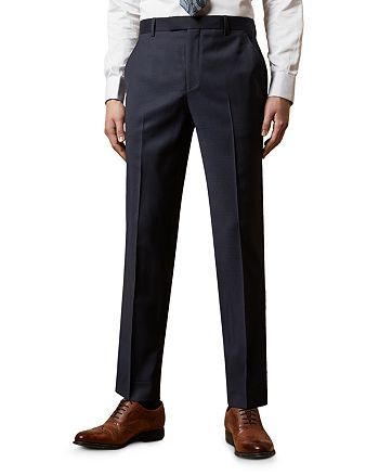 Ted Baker - Walshy Wool Check Slim Fit Trousers