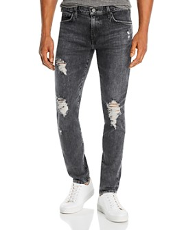 J Brand - Mick Skinny Fit Jeans in Floritus Black