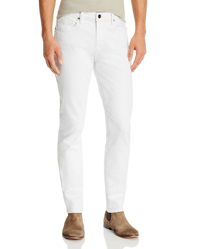 FRAME - L'Homme Skinny Fit Jeans in Blanc