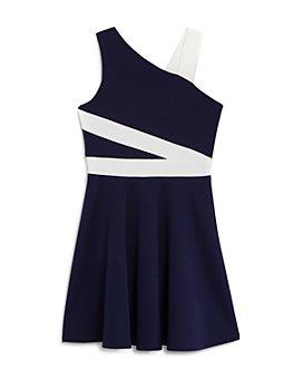 Sally Miller - Girls' Colorblock One Shoulder Dress - Big Kid