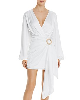 WAYF - Attina Faux-Wrap Mini Dress