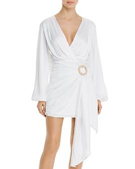 WAYF - Attina Faux-Wrap Mini Dress
