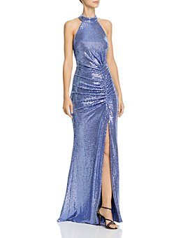 AQUA - Metallic Sequin Gown - 100% Exclusive
