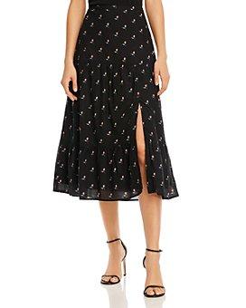 PAIGE - Bestia Floral-Print Skirt