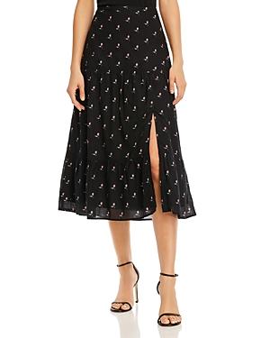 Paige Bestia Floral Print Skirt-Women