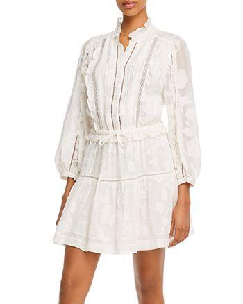 Joie - Adel B Floral Burnout Ruffled Mini Dress