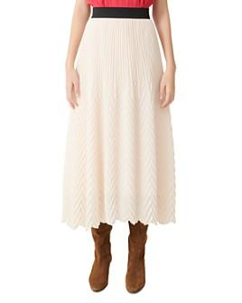 Maje - Jissane Pleated Midi Skirt