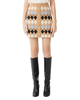 Maje - Jilina Argyle Knit Mini Skirt