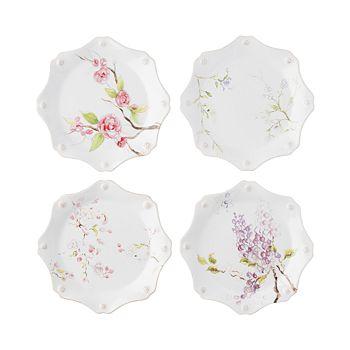 Juliska - Berry & Thread Floral Sketch Dessert/Salad Plates, Set of 4