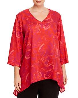 Caroline Rose Plus - Printed High-Low Top