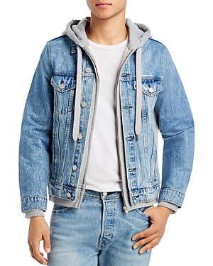Blanknyc Layered Look Slim Fit Denim Jacket
