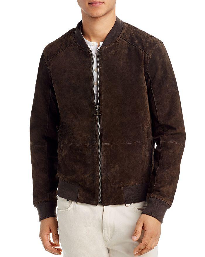 BLANKNYC - Faux Suede Slim Fit Bomber Jacket