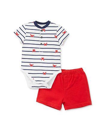 Little Me - Boys' Cotton Crab Bodysuit & Shorts Set - Baby