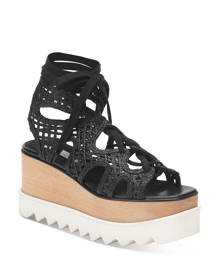 Stella McCartney - Women's Woven Double Platform Wedge Sandals