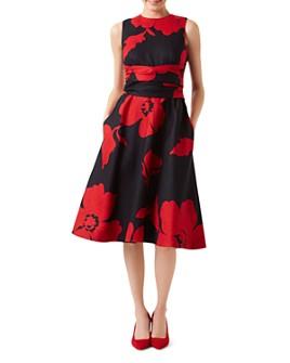 HOBBS LONDON - Twitchill Tie-Waist Floral Dress