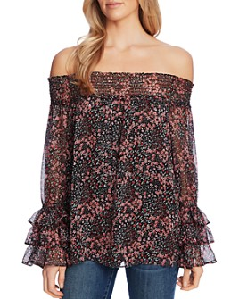 CeCe - Floral Off-the-Shoulder Blouse