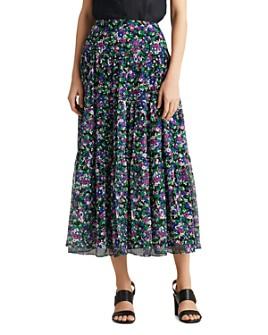 Ralph Lauren - Floral A-Line Midi Skirt