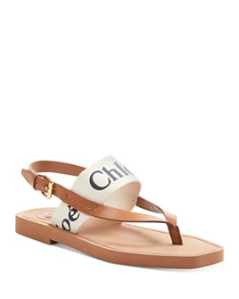 Chloé - Women's Woody Logo Sandals