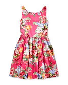 Ralph Lauren - Girls' Floral Sateen Dress - Big Kid