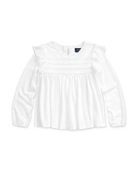 Ralph Lauren - Girls' Lace-Trim Top - Little Kid