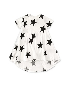 NUNUNU - Girls' Cotton High/Low Star Dress - Baby