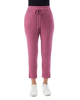 B Collection by Bobeau - Pascale Crop Brushed-Knit Cozy Pants