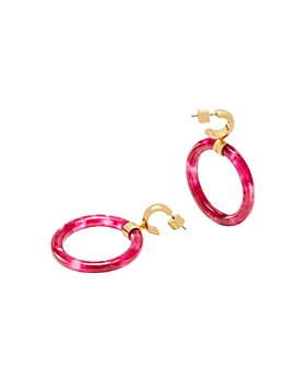 kate spade new york - Botanical Garden Huggie Drop Hoop Earrings