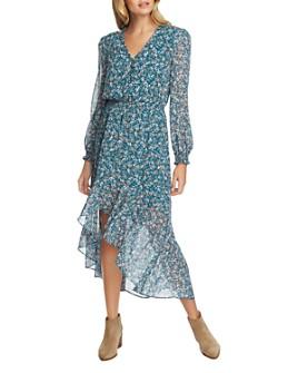 1.STATE - Woodland Floral Cutaway Hem Dress