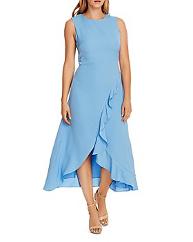 VINCE CAMUTO - Asymmetrical Ruffled Dress