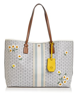 Tory Burch - Gemini Link Large Canvas Appliqué Tote