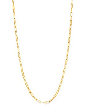 Bloomingdale's - Paper Clip Link Chain Necklace in 14K Yellow Gold - 100% Exclusive