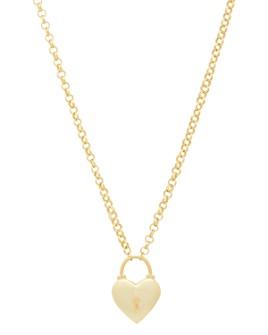 "Gorjana - Kara Heart Padlock Pendant Necklace, 18"""