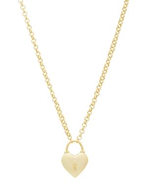 Gorjana Kara Heart Padlock Pendant Necklace, 18-Jewelry & Accessories