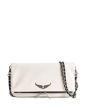 Zadig & Voltaire - Rhinestone-Wings Chain-Strap Leather Handbag