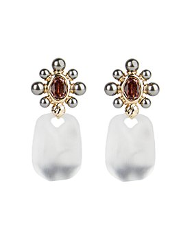 Alexis Bittar - Lucite, Imitation Pearl & Crystal Clip-On Drop Earrings
