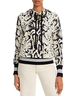 AQUA - Snakeskin Print Hooded Sweater