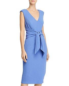 Adrianna Papell - Rio Knit Tie-Front Sheath Dress