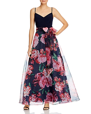 Eliza J Floral Print Ball Gown-Women