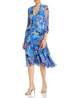 Shoshanna - Azalea Floral-Print Midi Dress