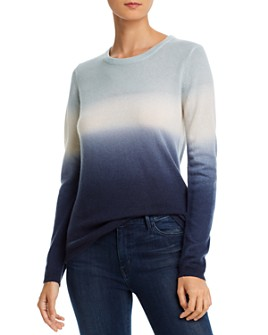 Minnie Rose - Crewneck Dip-Dyed Cashmere Sweater