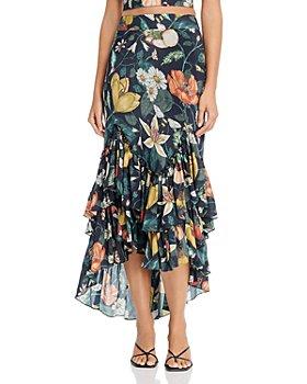 Atelier 1756 - Gitana Cotton Floral-Print Ruffled Skirt