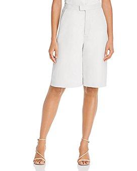 REMAIN - Manu Leather Bermuda Shorts