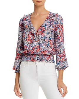 Parker - Quincy Silk Smocked Waist Blouse